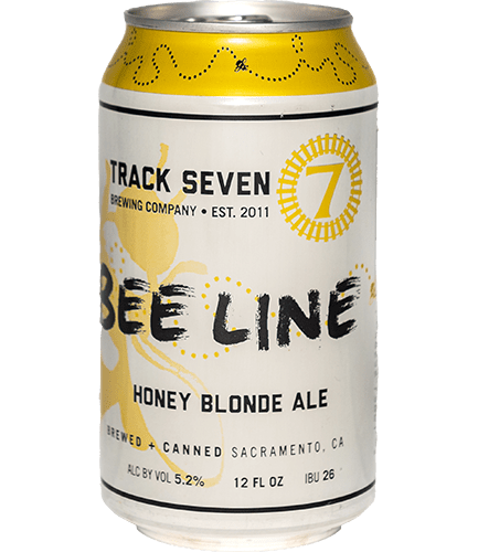 Can of Bee Line Honey Blonde Ale