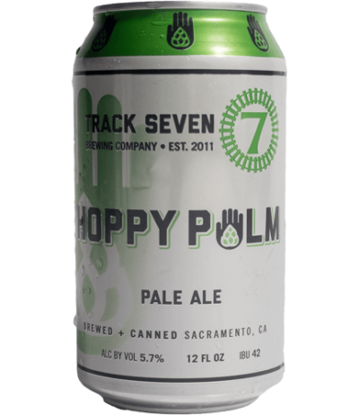 Regular Release - Hoppy Palm Pale Ale beer can 12oz - Track 7 Brewery